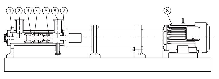 管线式搅拌器的构造